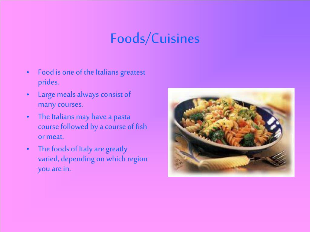 Foods/Cuisines