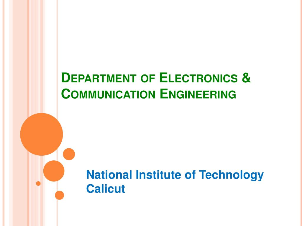 PPT - Department of Electronics & Communication Engineering PowerPoint Presentation - ID:661114
