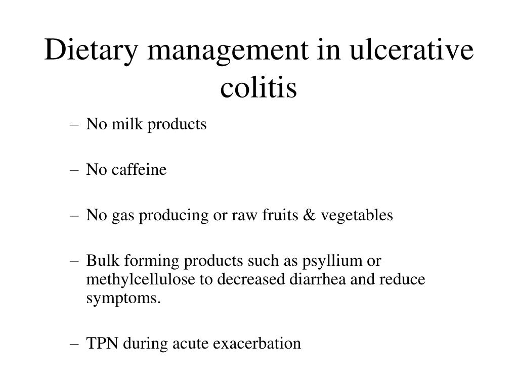 Dietary management in ulcerative colitis