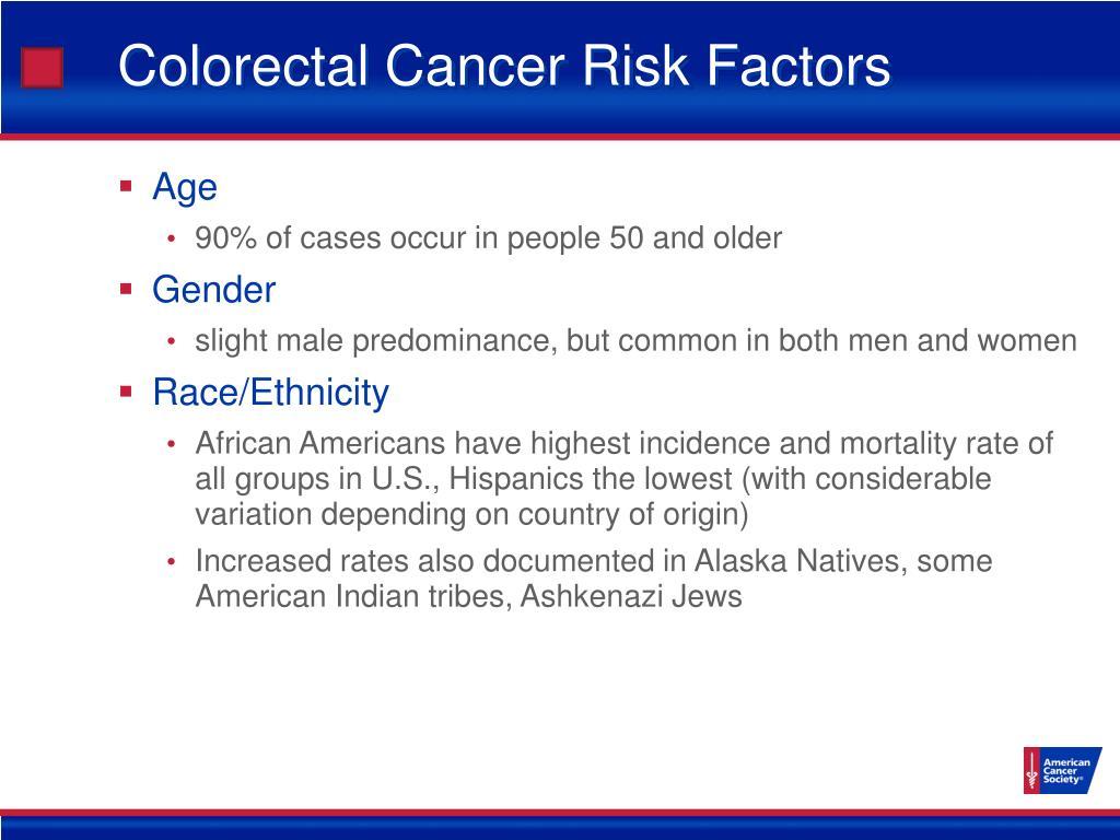 Colorectal Cancer Risk Factors