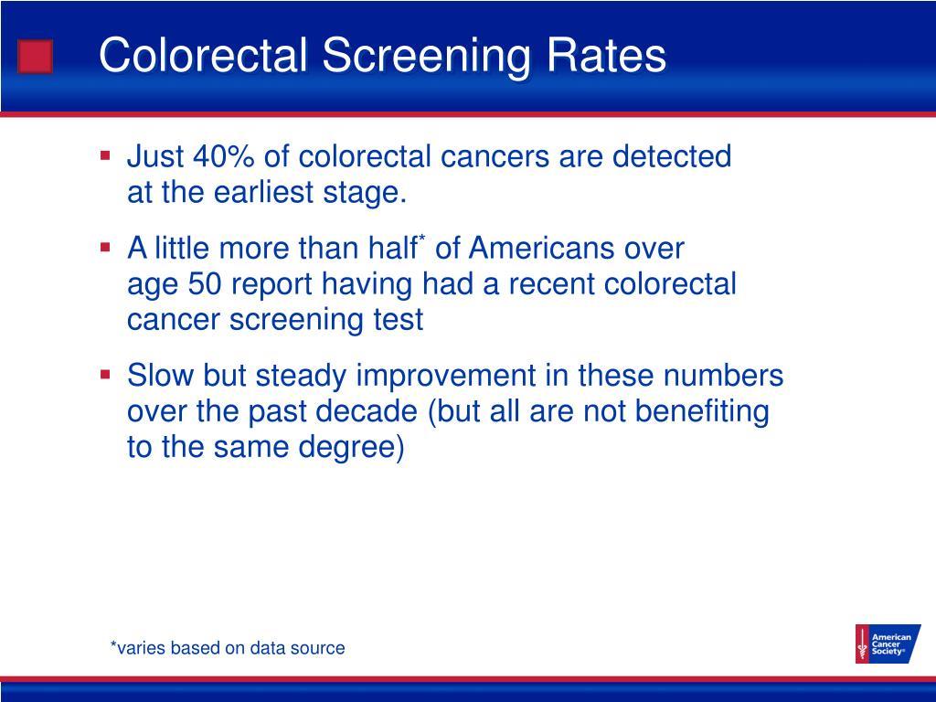 Colorectal Screening Rates