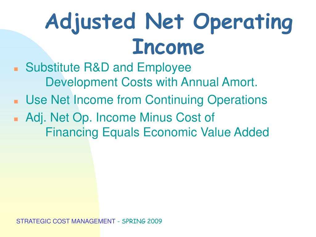 Adjusted Net Operating Income