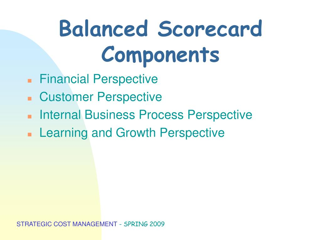 Balanced Scorecard Components