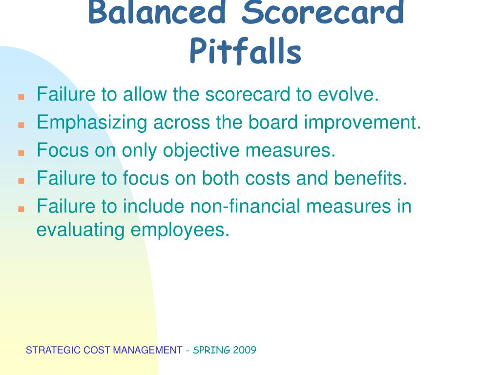 Balanced Scorecard Pitfalls