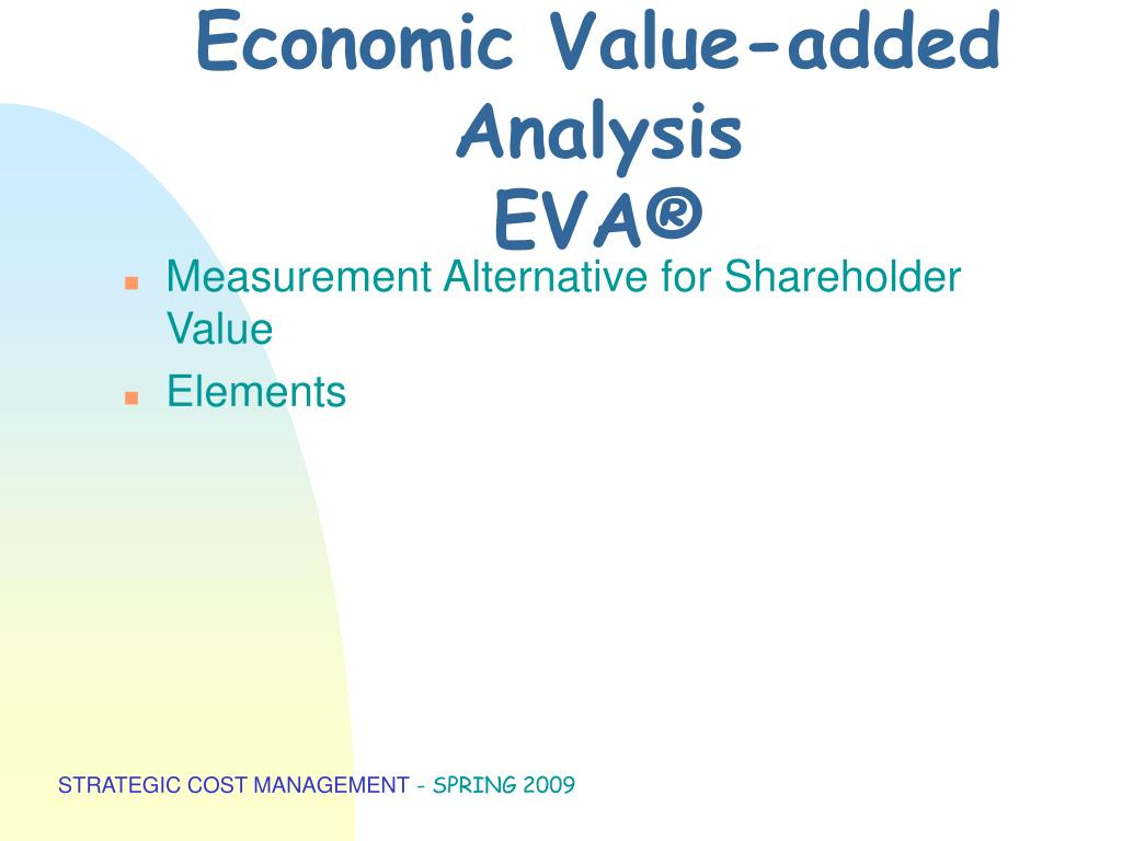 Economic Value-added Analysis