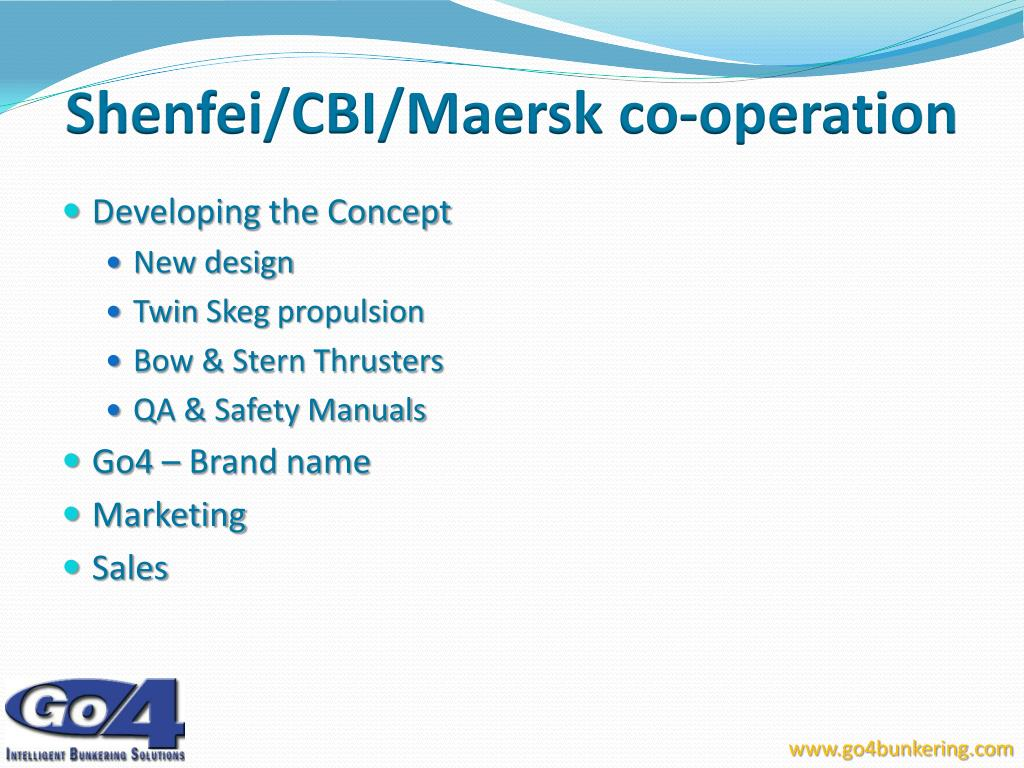 Shenfei/CBI/Maersk co-operation