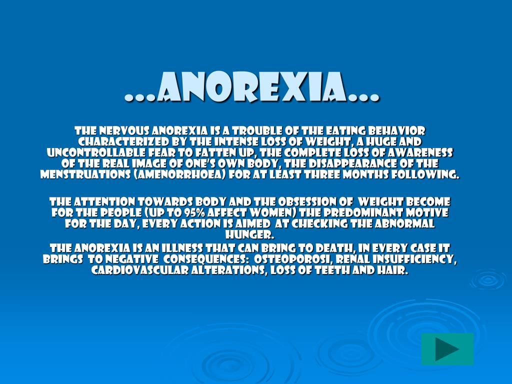 …Anorexia…