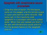 spaghetti with amatriciana sauce procedure