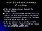 14 15 bill to law conference committee