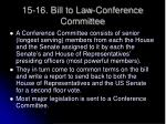 15 16 bill to law conference committee