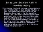 bill to law example a bill to mandate testing