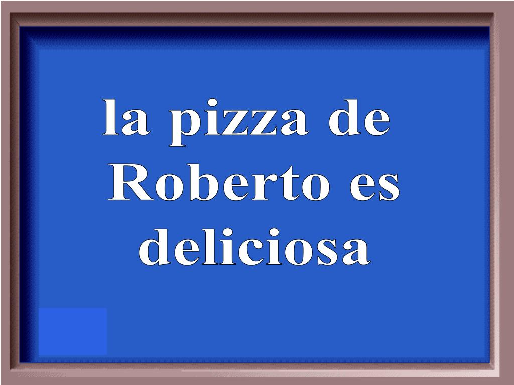 la pizza de