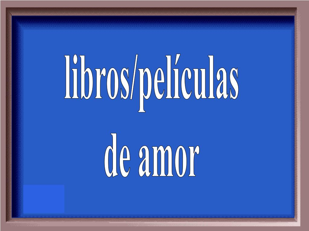 libros/películas