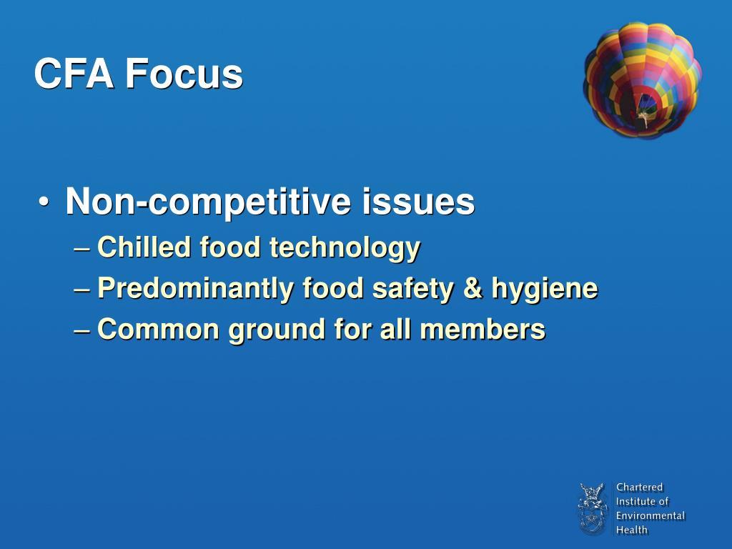 CFA Focus
