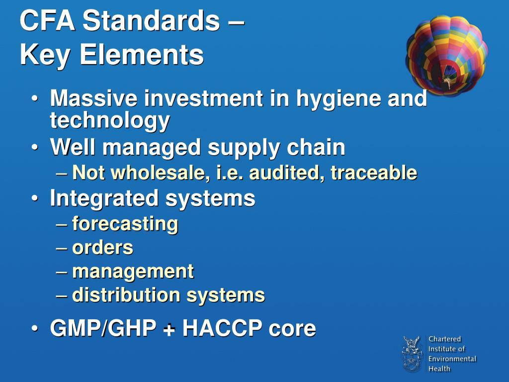 CFA Standards –