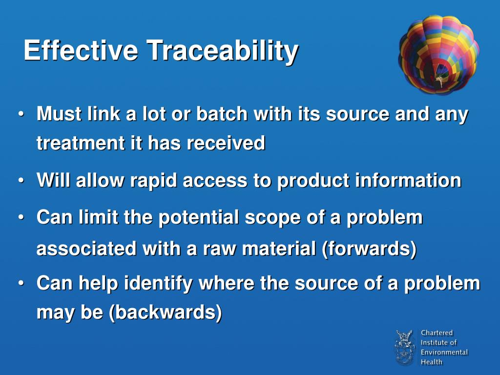 Effective Traceability