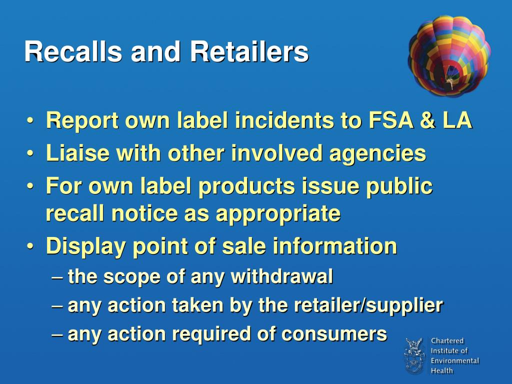 Recalls and Retailers