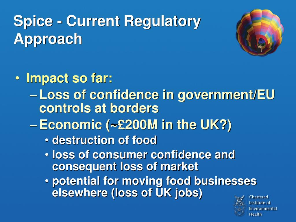 Spice - Current Regulatory Approach