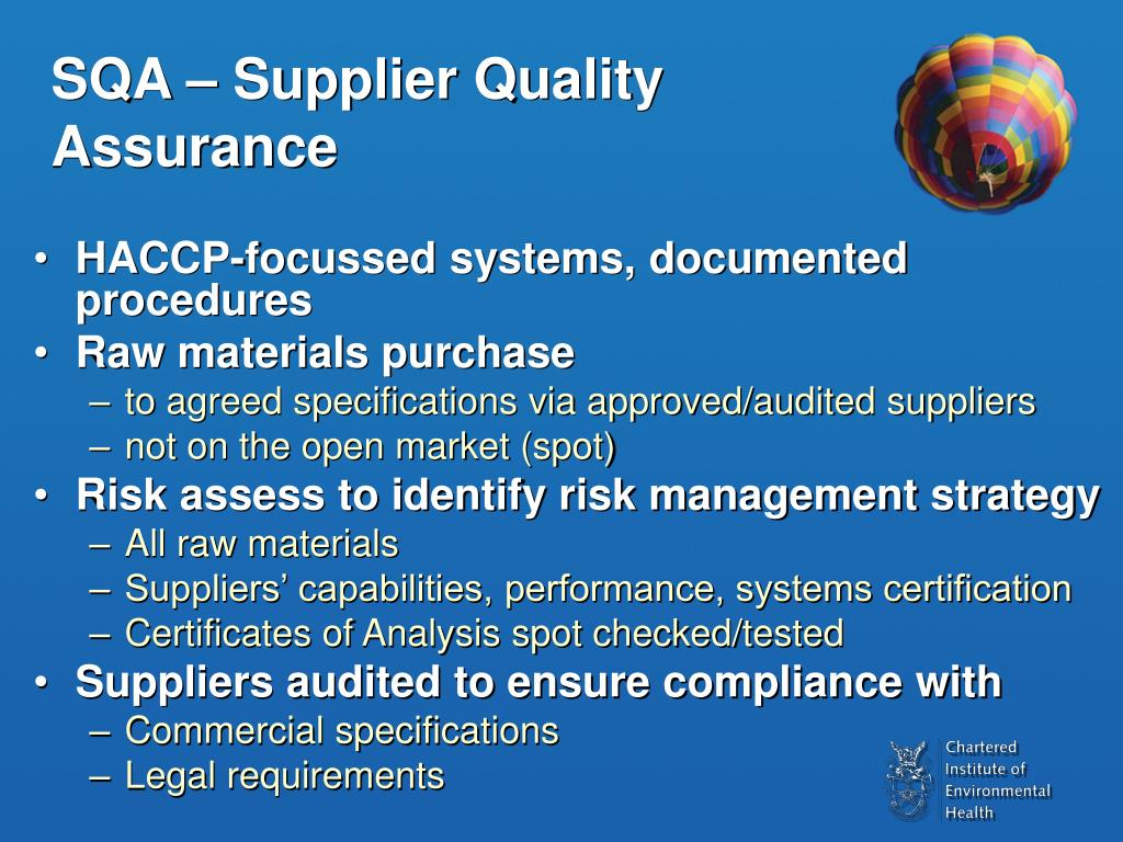 SQA – Supplier Quality Assurance