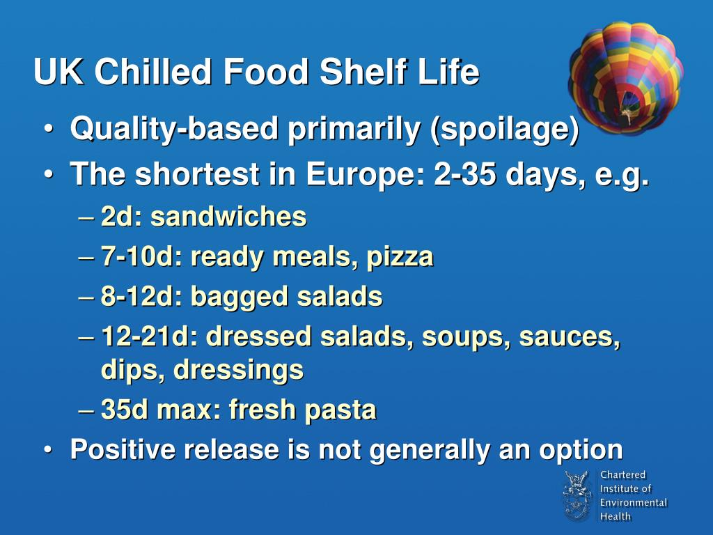 UK Chilled Food Shelf Life