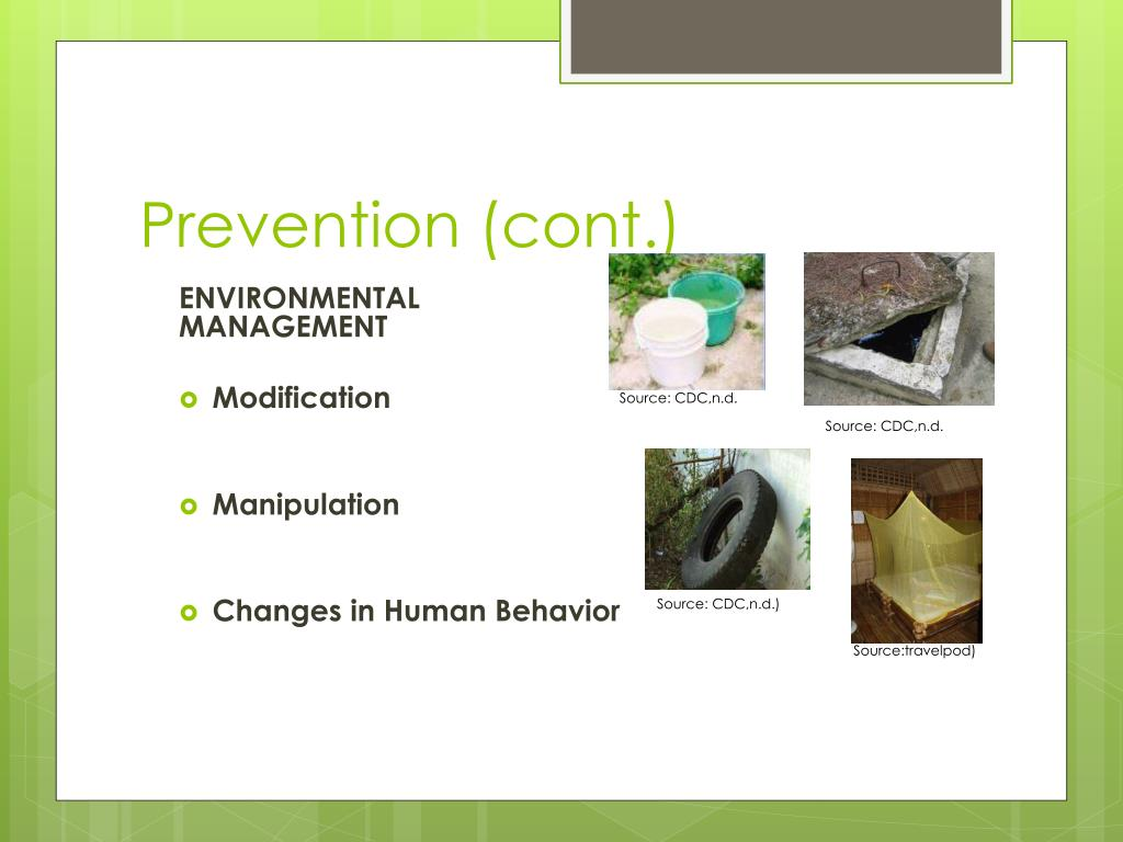 Prevention (cont.)