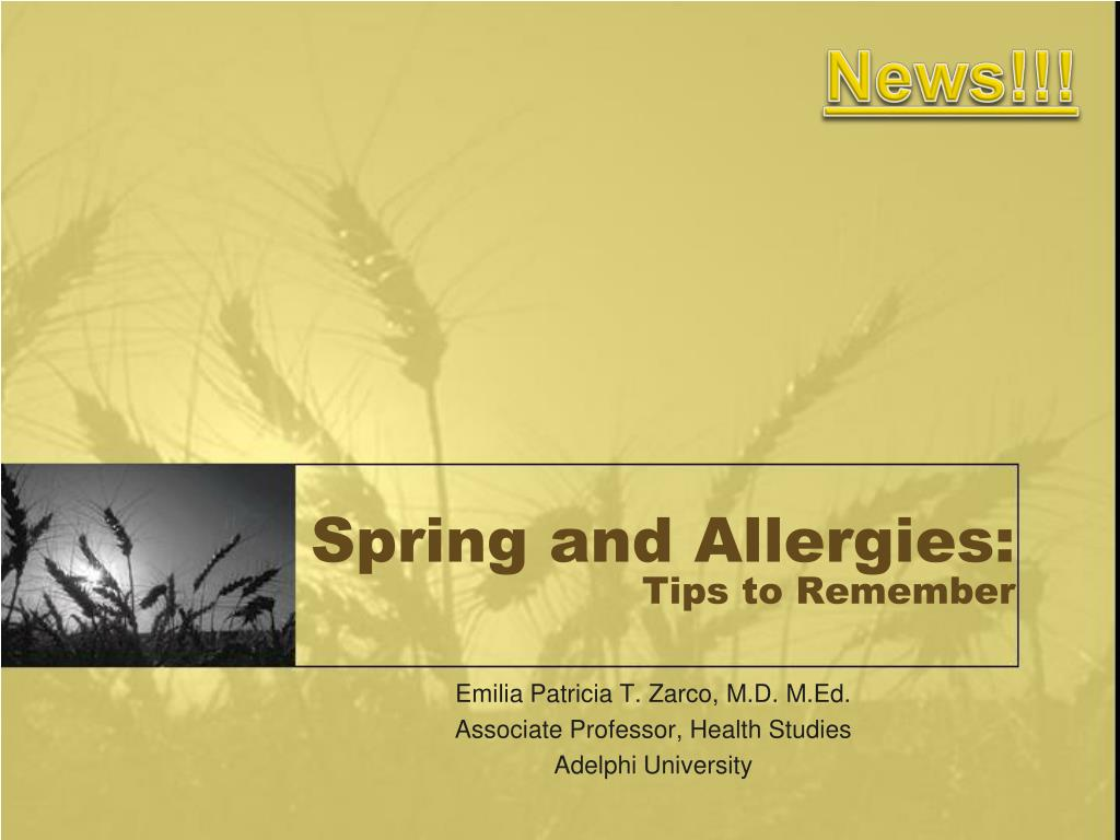 spring and allergies tips to remember