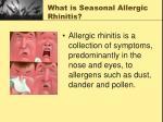what is seasonal allergic rhinitis