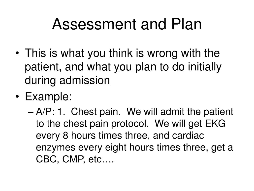 Assessment and Plan
