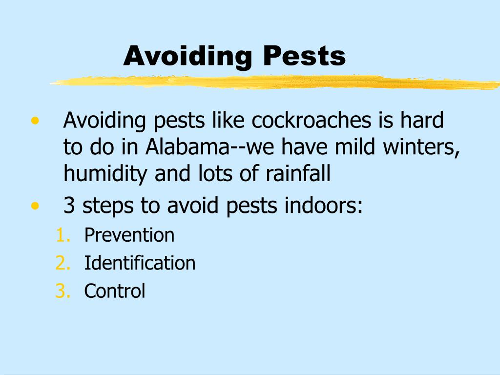 Avoiding Pests