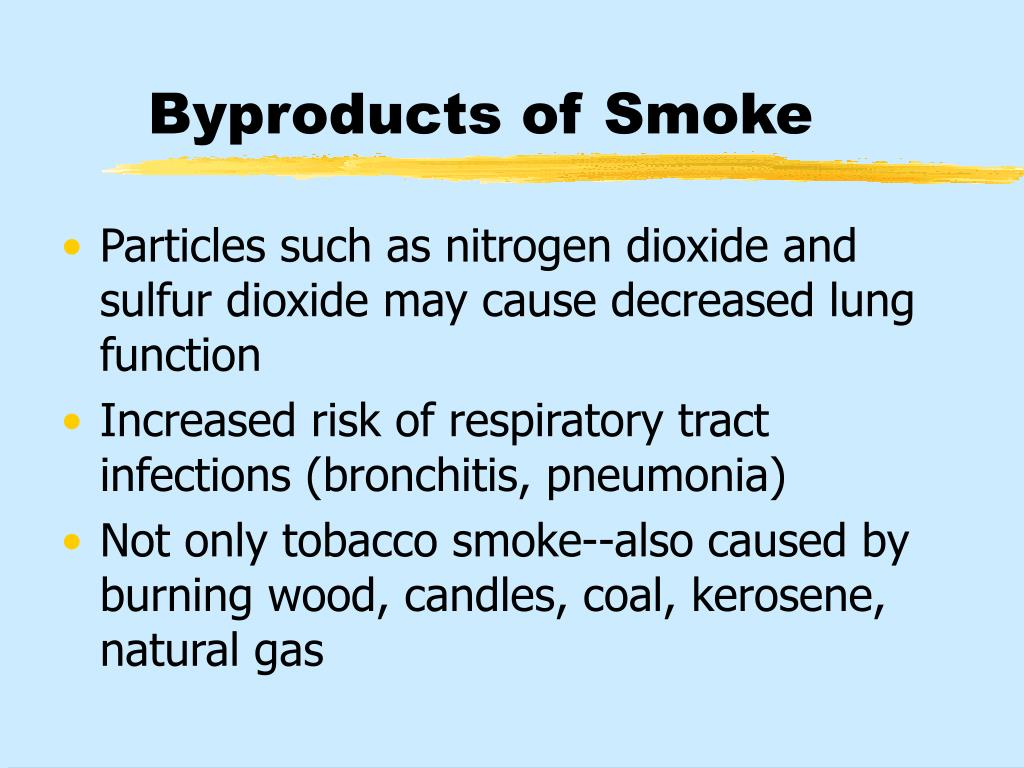 Byproducts of Smoke