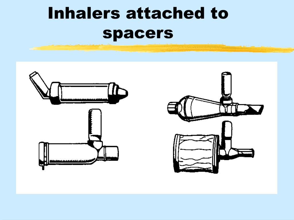Inhalers attached to spacers
