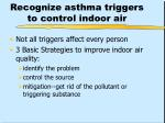 recognize asthma triggers to control indoor air
