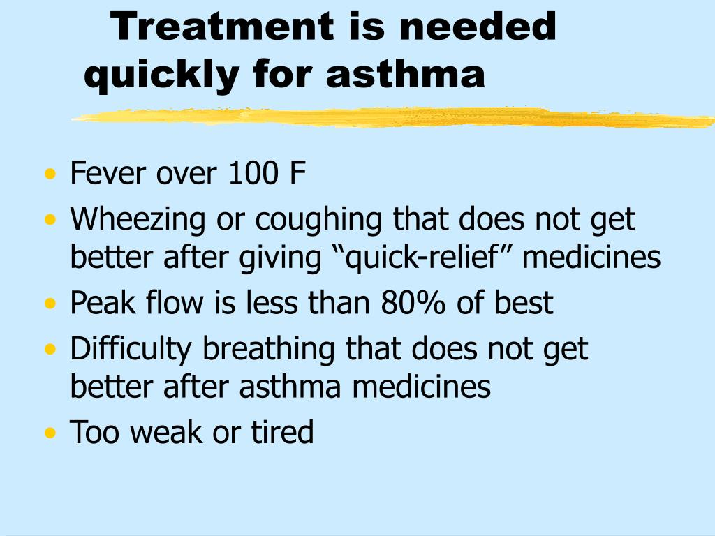 Treatment is needed quickly for asthma