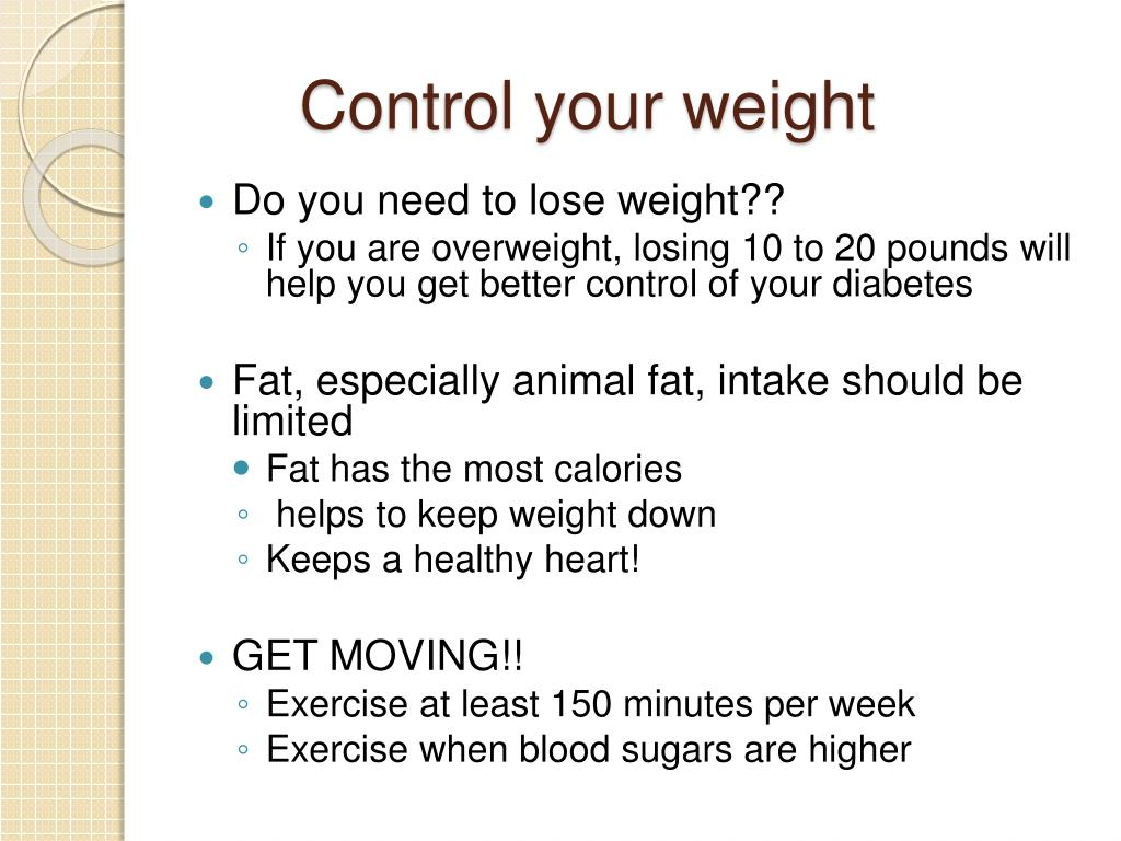 Control your weight