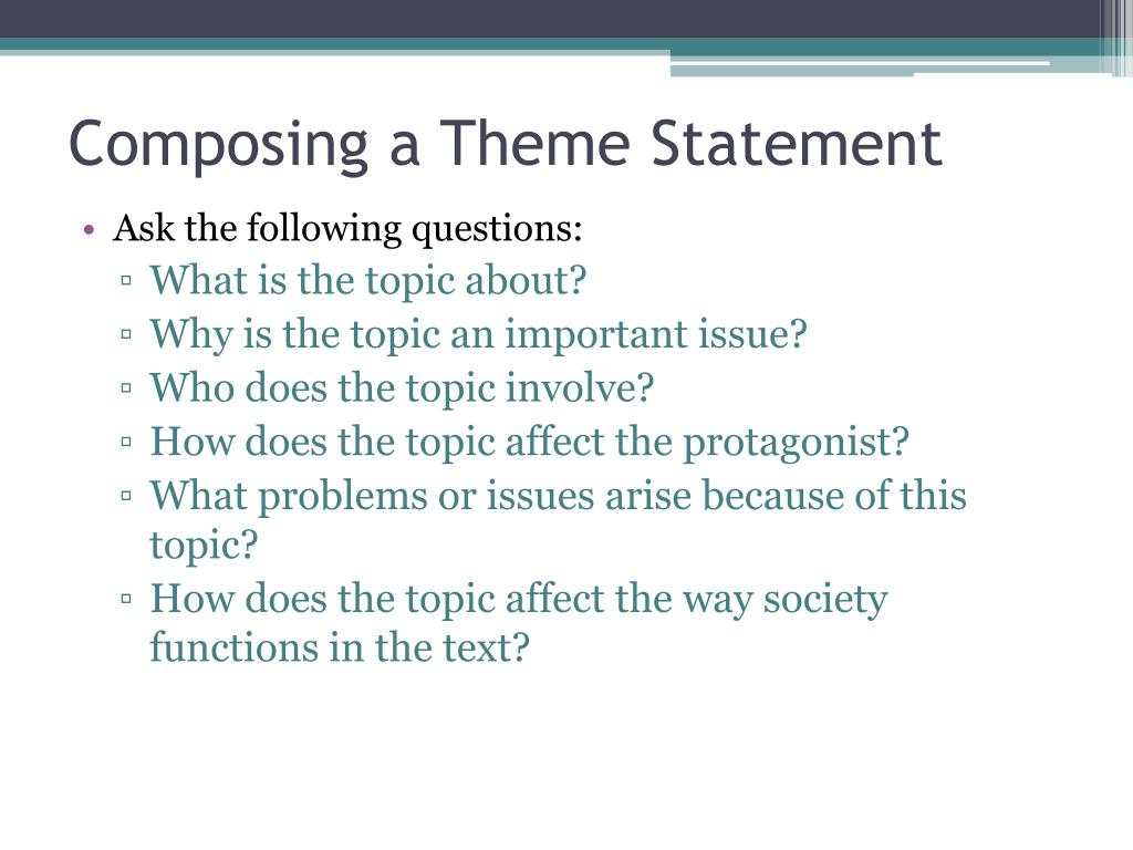 Composing a Theme Statement
