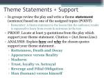 theme statements support