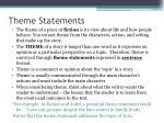 theme statements4