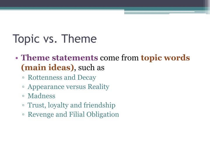 Topic vs theme