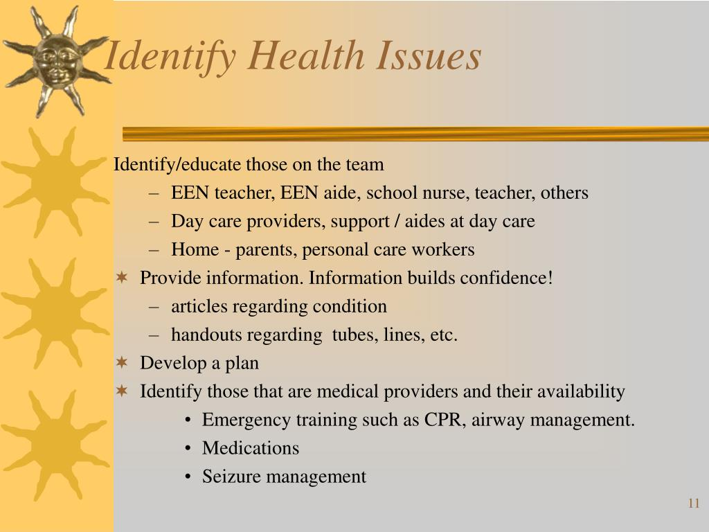 Identify Health Issues
