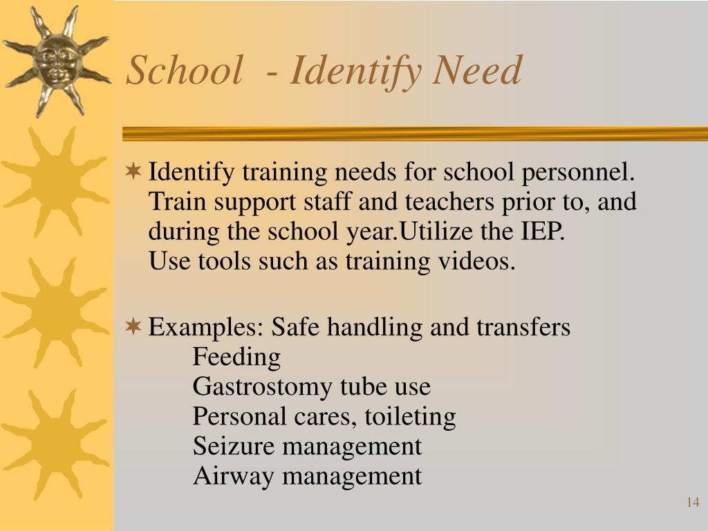School  - Identify Need