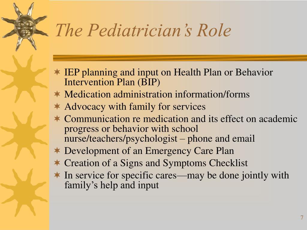 The Pediatrician's Role