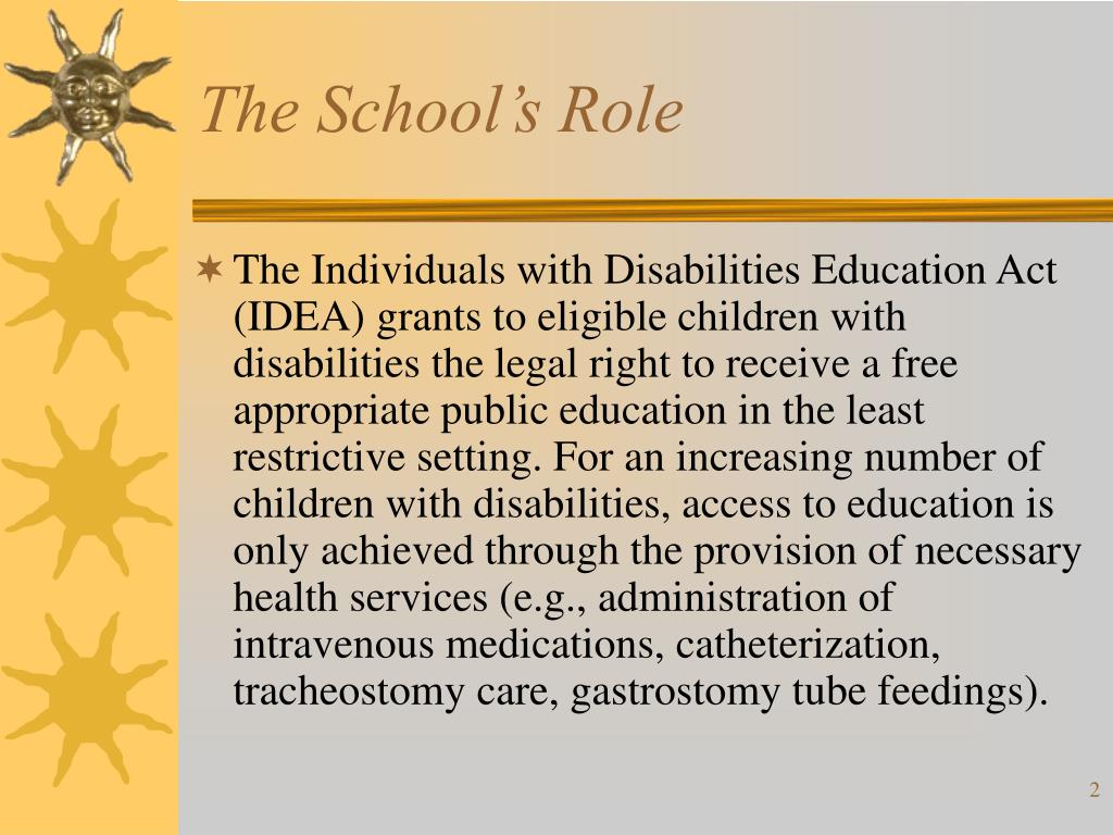 The School's Role