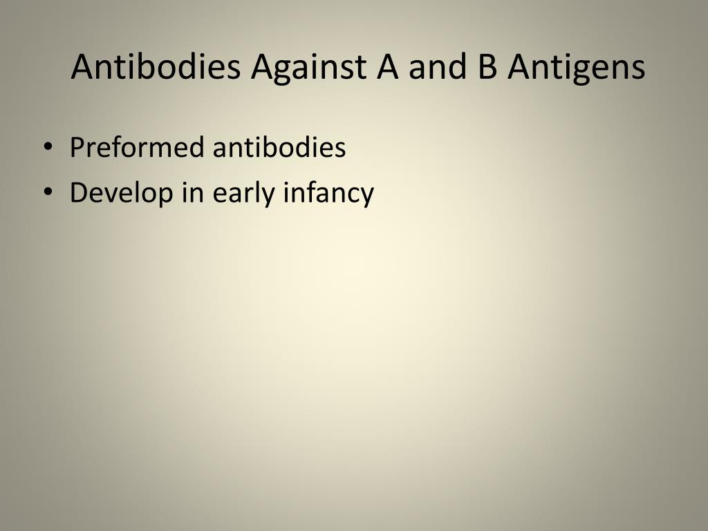 Antibodies Against A and B Antigens