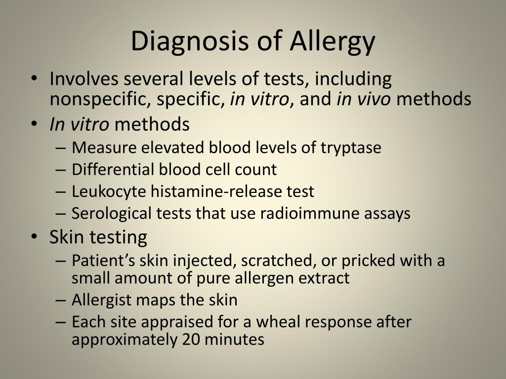Diagnosis of Allergy