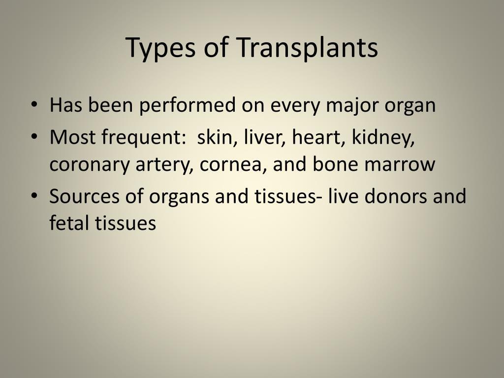 Types of Transplants
