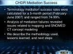 chdr mediation success