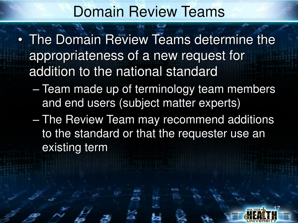 Domain Review Teams