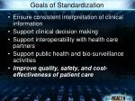 goals of standardization
