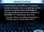 lessons learned52