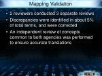 mapping validation